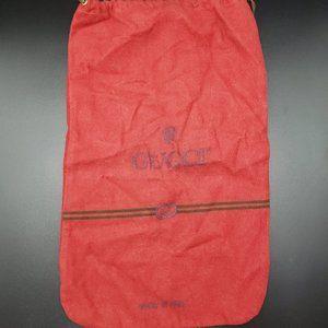 Vintage red felt GUCCI dust bag